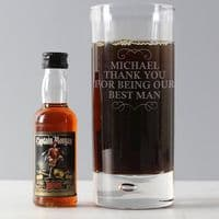 Personalised Any Message Hi Ball & Rum Miniature Set - ideal gift for any occasion or celebration.